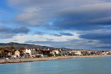 Bray Town Promenade. Ireland 免版税图像