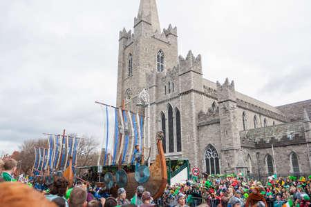DUBLIN, IRELAND - MARCH 17  Saint Patrick Day Parade in Dublin