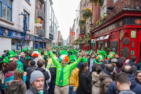 parade: DUBLIN, IRELAND - MARCH 17  Saint Patrick Day Parade in Dublin