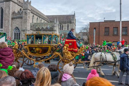 patrick: DUBLIN, IRELAND - MARCH 17  Saint Patrick Day Parade in Dublin