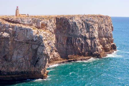 vilamoura: Big Cliff at the fort of Sagres in Algarve, Portugal