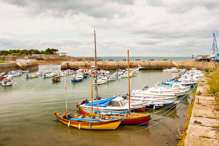 View of a harbour on the fishing port