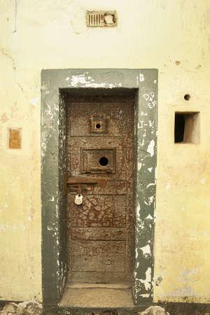 Old cell door in Kilmainham Gaol in Dublin, Ireland