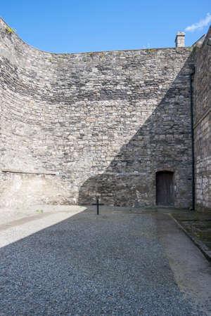 kilmainham: Cross on the grounds of Kilmainham prison where prisoners were executed. Dublin, Ireland
