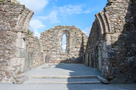 monastic sites: The Old Cathedral in Glendalough, wicklow mountains, Ireland Stock Photo