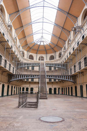 Dublin, Ireland - Aug 14:Interior of Kilmainham Gaol in Dublin, Ireland on August 14, 2014