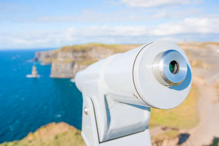 moher: Coin telescope at Cliff of Moher in Co. Clare, Ireland