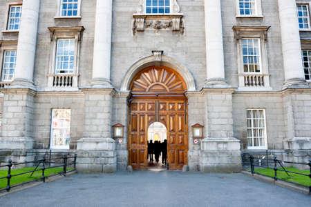 art door: Trinity College main entrance in Dublin, Ireland