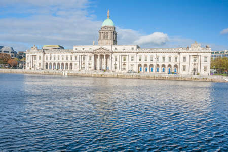 liffey: Dublin Custom house at the Liffey river in Dublin, Ireland