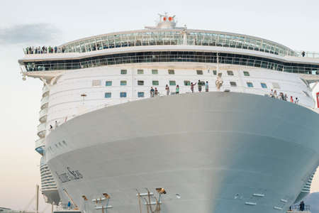 allure: Malaga, Spain - April, 29: Allure of the Seas at the malaga harbor as first stop in europe in Malaga, Spain on April 29, 2015. The largest cruise ship in the world