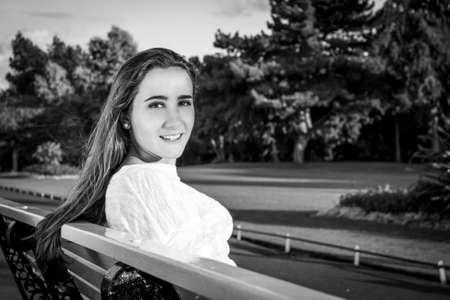kilmainham: Beautiful teenager portrait at the park in dublin