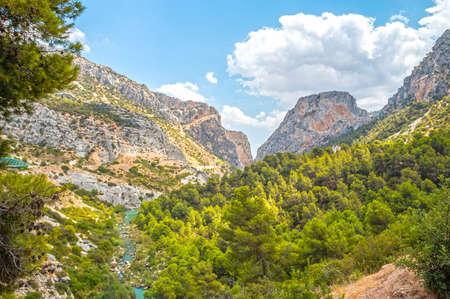 gangway: Beautiful valley in Caminito del Rey, gorgeous gangway in Malaga