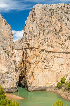 gangway: Caminito del Rey in Malaga. Front part of this gorgeous gangway in El Chorro