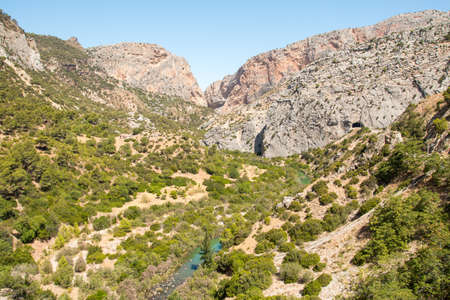 gangway: Beautiful valley in Caminito del Rey, gorgeous gangway in Malaga
