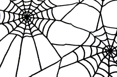 spiderweb: Black spiderweb as halloween background with white isolated space