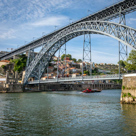luis: Bridge of Luis I over Douro river in Porto, Portugal. Editorial