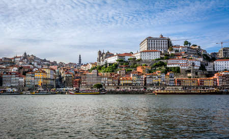 porto: Douro river in Porto, Portugal.
