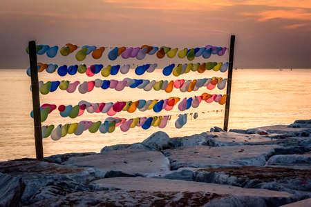 marmara: Balloon shooting game near the sea of Marmara in Istanbul, Turkey