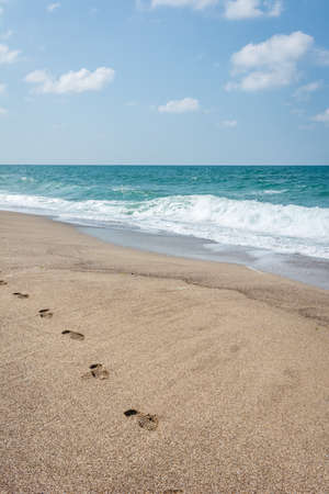 foot prints: Foot prints in the sand