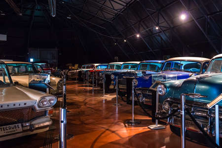 technical university: Ankara, Turkey - October 23, 2015: Retro car collection in ODT Bilim ve Teknoloji Mzesi which is a museum established within the campus of the Middle East Technical University. The museum was opened to public in 2005