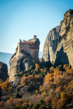 panoramatic: The Holy Monastery of Rousanou  St. Barbara founded in the middle of 16th century AD Meteora, Greece