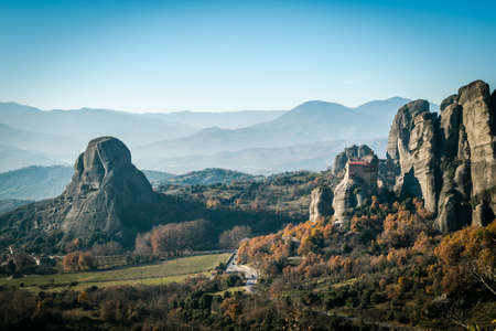 16th century: The Holy Monastery of Rousanou  St. Barbara founded in the middle of 16th century AD Meteora, Greece