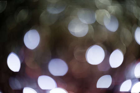 Christmas lights bokeh background or overlay
