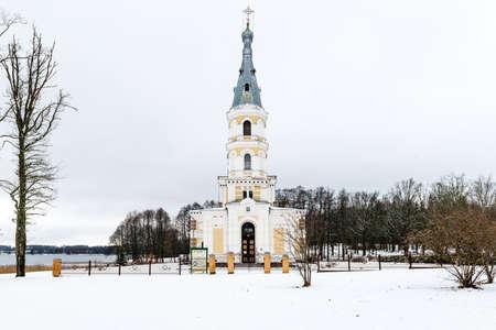 alexander: St. Alexander Nevsky Church in winter. Stameriena, Latvia