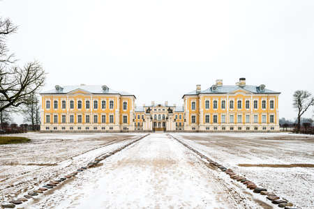 bartolomeo rastrelli: Rundale palace, was built in 1740. Architect: Francesco Bartolomeo Rastrelli. Editorial