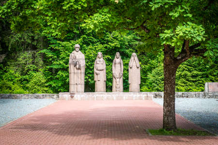 brethren: Gulbene, Latvia - Jun 13, 2016: Brothers Cemetery is a military cemetery and national monument in Gulbene, Latvia