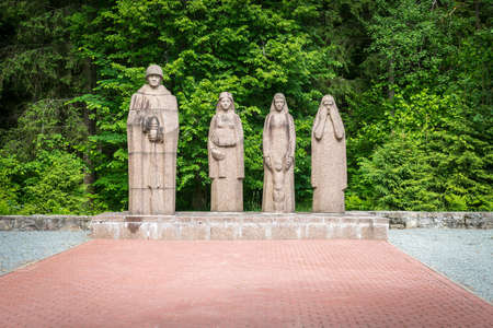national military cemetery: Gulbene, Latvia - Jun 13, 2016: Brothers Cemetery is a military cemetery and national monument in Gulbene, Latvia
