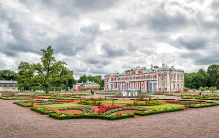 peter the great: Tallinn, Estonia - July 04, 2016: Tourists are visiting Kadriorg - baroque palace built for Peter the Great in 1718 now houses the Art Museum of Estonias foreign collection.