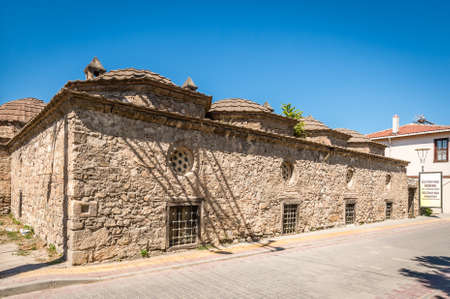 suleyman: Iznik, Turkey - July 23, 2016: Suleyman Pasa Madrasa (mid 14th century) in Iznik. This is one of the two surviving madrasas in the town. It was restored in the 19th century and again in 1968