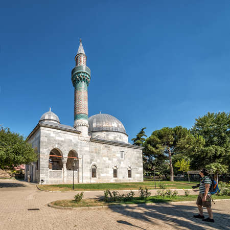 Iznik, Turkey - July 23, 2016: Tourists are visiting the Green Mosque in Iznik (Nicaea), Turkey Editorial
