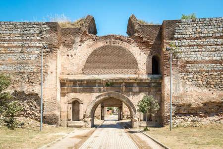 Iznik, Turkey - July 24, 2016: Istanbul gate of Nicea ancient city in Iznik, Turkey