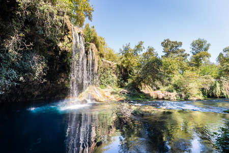 Beautiful Duden waterfall in Antalya, Turkey