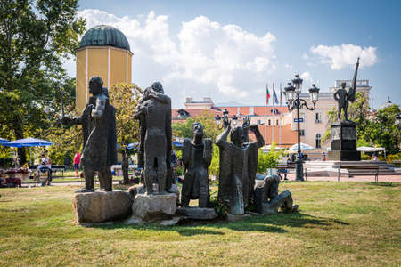 ancient near east: Sofia, Bulgaria - September 15, 2016: Monument for Samuel fighters. Monument which designed by Lyubomir Dalchev in sofia, Bulgaria Editorial