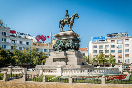 tsar: Sofia, Bulgaria - September 15, 2016: The Monument to the Tsar Liberator in Sofia, Bulgaria Editorial