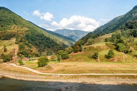 Beautiful River Olt in the Cozia National Park in Romania