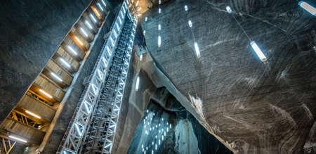 salina: Turda, Romania - September 17, 2016: Salina Turda which is a salt mine located in Turda, Romania Editorial