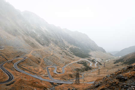 transfagarasan: Transfagarasan is a paved mountain road crossing the southern section of the Carpathian Mountains of Romania
