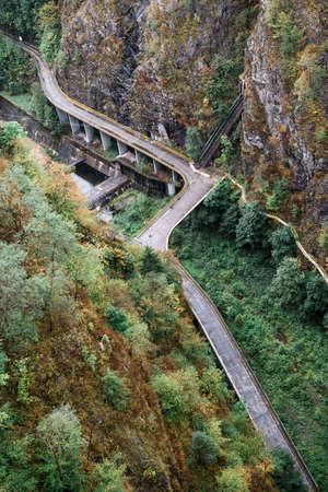 Transylvania, Romania - September 19, 2016: Transfagarasan is a paved mountain road crossing the southern section of the Carpathian Mountains of Romania Editorial