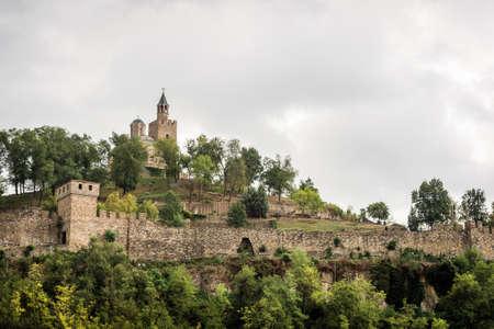 veliko: Veliko Turnovo, Bulgaria - September 20, 2016: Panoramic view of the Tsarevets Fortress in Veliko Turnovo, Bulgaria.