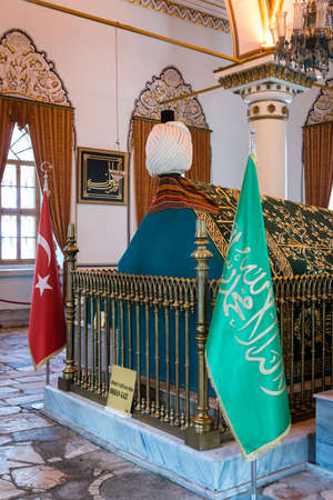 Bursa, Turkey - February 04, 2017: Tumb in the Mausoleum of Orhan Gazi in Bursa, Turkey