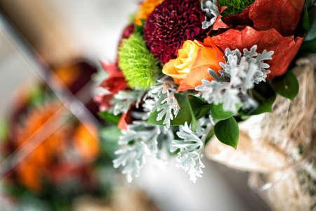 Autumn wedding detaıl photography. Bridal bouquet