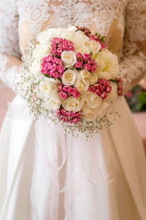 Wedding detaıl photography. Bridal bouquet Stok Fotoğraf