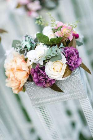 Wedding details and traditions. Floral venue decor - bouquet