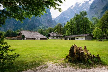 Koningssee in german Alps. Mountain landscape. Stok Fotoğraf