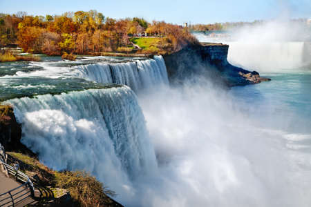 niagara river: American side of Niagara Falls Stock Photo