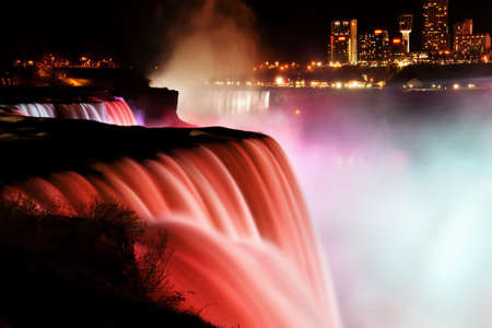 Niagara Falls at night  view from american side  photo